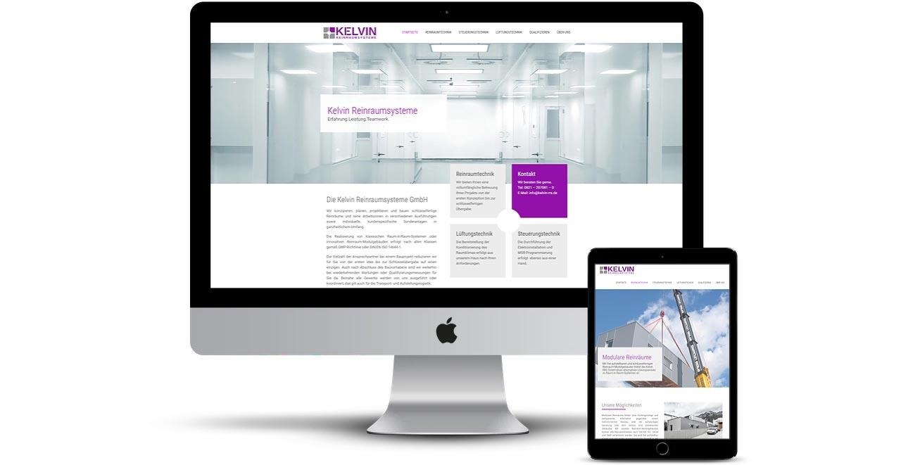 Kelvin Reinraumsysteme Website