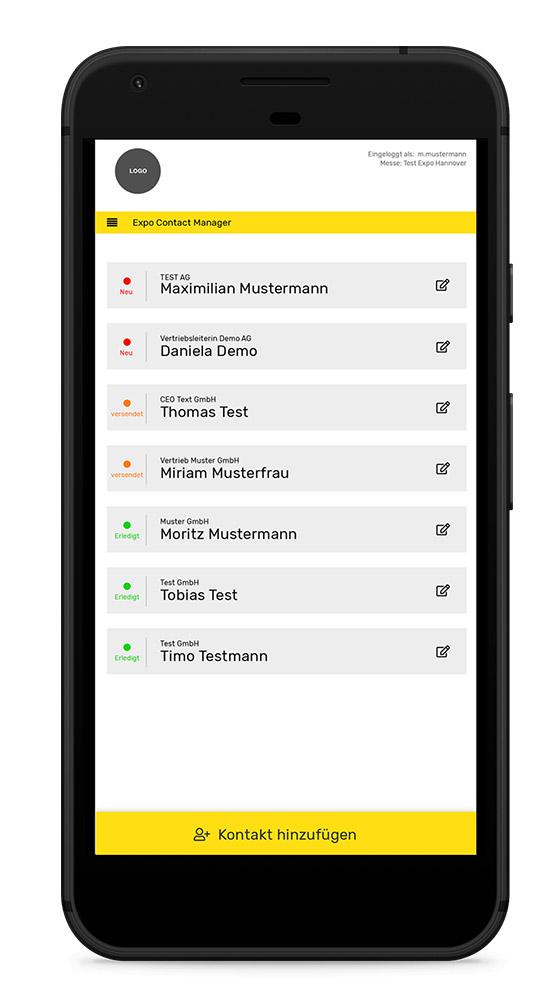 Messekontaktverwaltung Tohatec Web Solutions