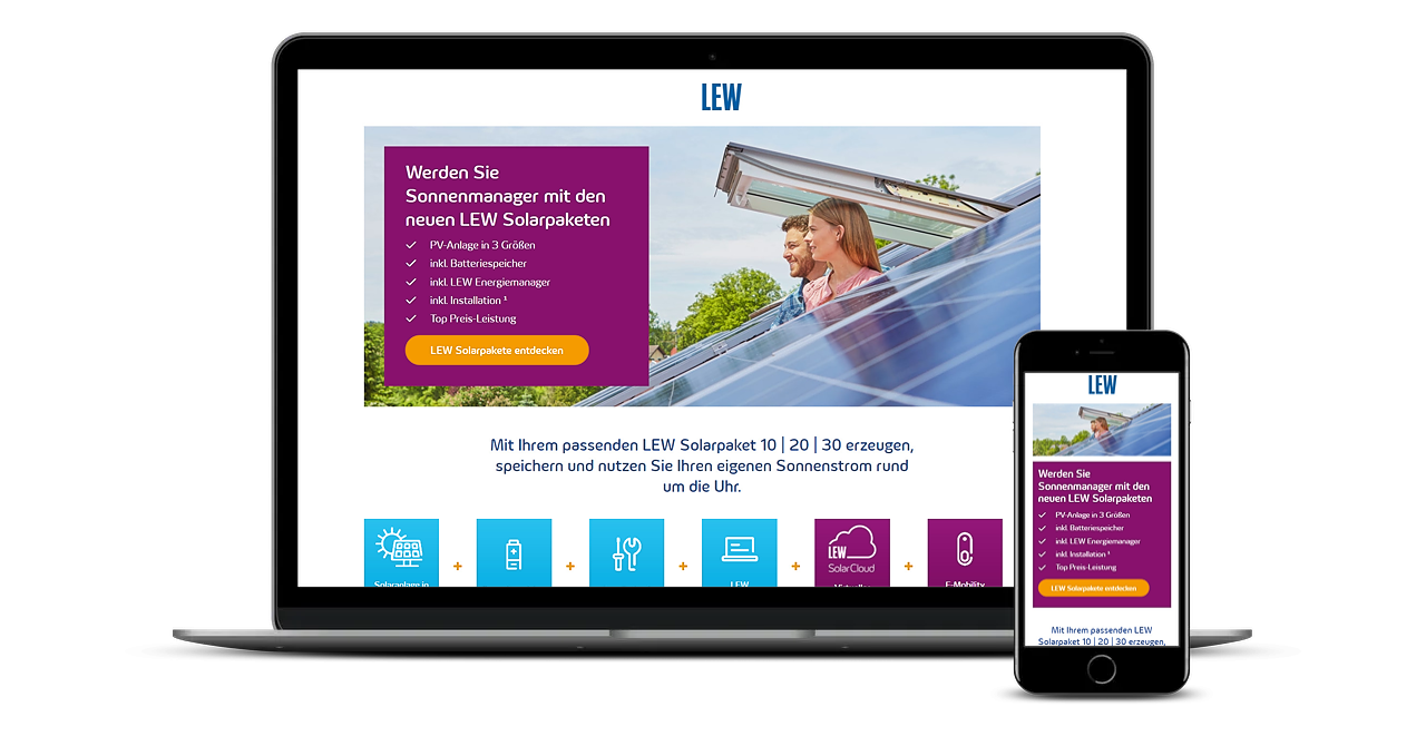 LEW Solar Landingpage